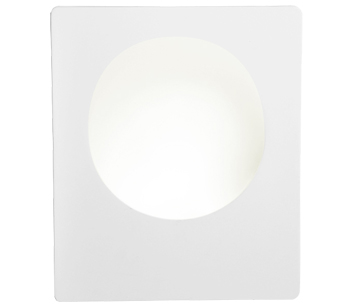 Searchlight LED Wall Light, White Plaster - 8791