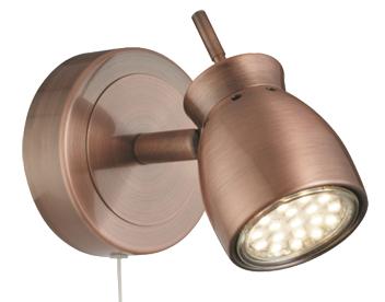 Searchlight Jupiter  Light Led Wall Spotlight Antique Copper Cu