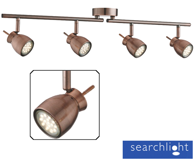 Searchlight Jupiter  Light Led Adjustable Bar Spotlight Antique Copper Cu None