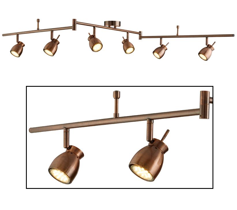 wholesale dealer 4a5f1 ae072 Searchlight Jupiter 6 Light Adjustable Ceiling Bar Spotlight ...