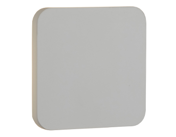 Searchlight LED Wall Light, White Plaster Finish - 8834
