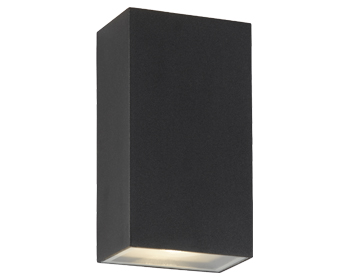 Searchlight Outdoor Rectangular Up & Down LED Wall Light, Black Finish - 8852BK