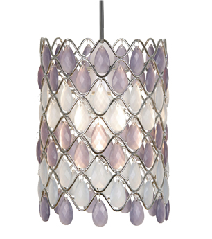 Oaks Lighting 'Moura' Non-Electric Ceiling Pendant, Violet & Opal Acrylic - 893 OP