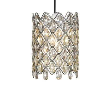 Oaks Lighting Moura Non-Electric Ceiling Pendant, Amber & Clear Acrylic Finish - 893 CL
