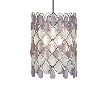 Oaks Lighting Moura Non-Electric Ceiling Pendant, Violet & Opal Acrylic Finish - 893 OP