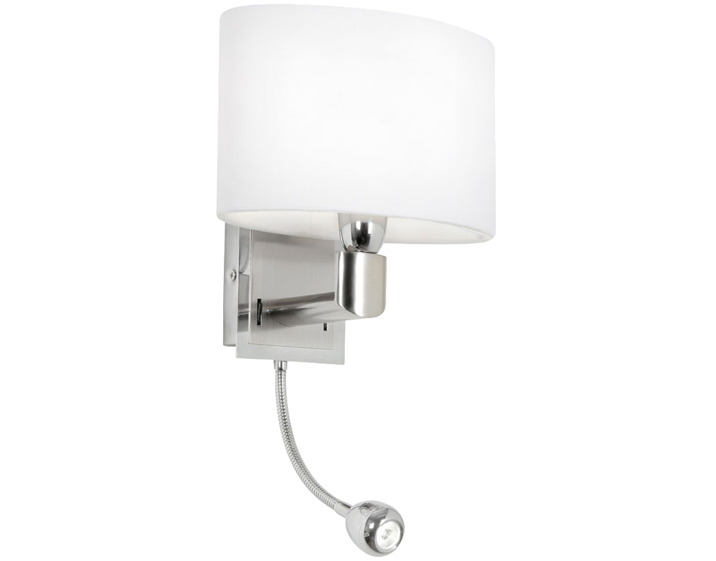 Oaks Lighting Riley Wall Light, Antique Chrome Finish - 894 WB AC