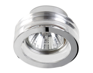 Leds C4 Eis Round 80 12V Recessed Ceiling Downlight, Chrome Finish With Transparent Glass Diffuser - 90-1689-21-37