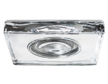 Leds C4 Eis Square 110 12V Recessed Ceiling Downlight, Chrome Finish With Transparent Glass Diffuser - 90-1792-21-37