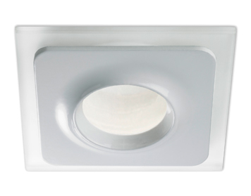 Leds C4 Formula 12V Recessed Ceiling Downlight, White Finish With Satin Glass Diffuser - 90-4349-14-B9