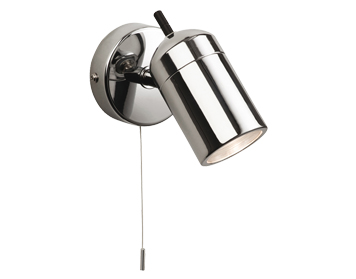 Firstlight Atlantic Switched Single Wall Spotlight, Chrome Finish - 9050CH