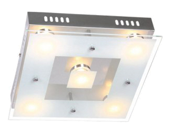 Wofi Sphinx LED 5 Light Ceiling Light, Chrome - 9102.05.01.0000