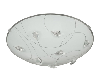 Action Rennes 1 Light 30cm LED Ceiling Light, White - 913201060300