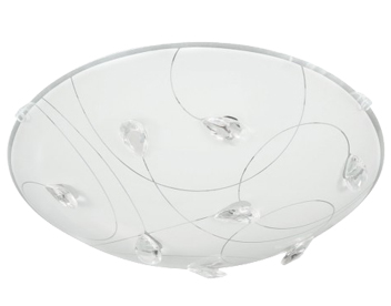 Action Rennes 1 Light 40cm LED Ceiling Light, White - 913201060400