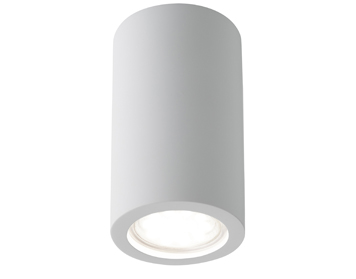 Searchlight Gypsum 1 Light Flush Ceiling Light, White Plaster Finish - 9273
