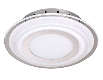 Wofi Nancy 1 Light LED 20cm Diameter Ceiling Light, Chrome - 9276.01.01.0200