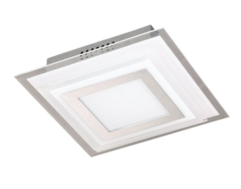 Wofi Nancy 1 Light 7.5w LED Ceiling Light, Chrome - 9276.01.01.1200
