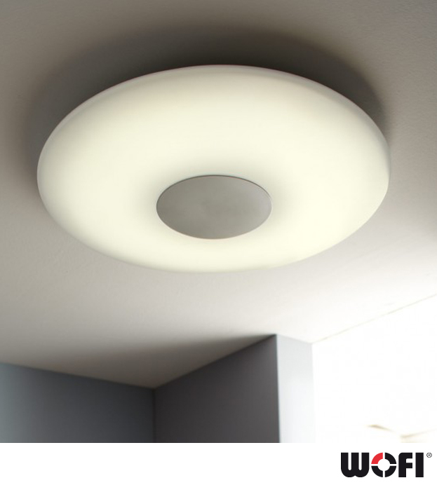 ... Remote Control Flush Ceiling Light, Matt Nickel - 9350.01.64.0000 None