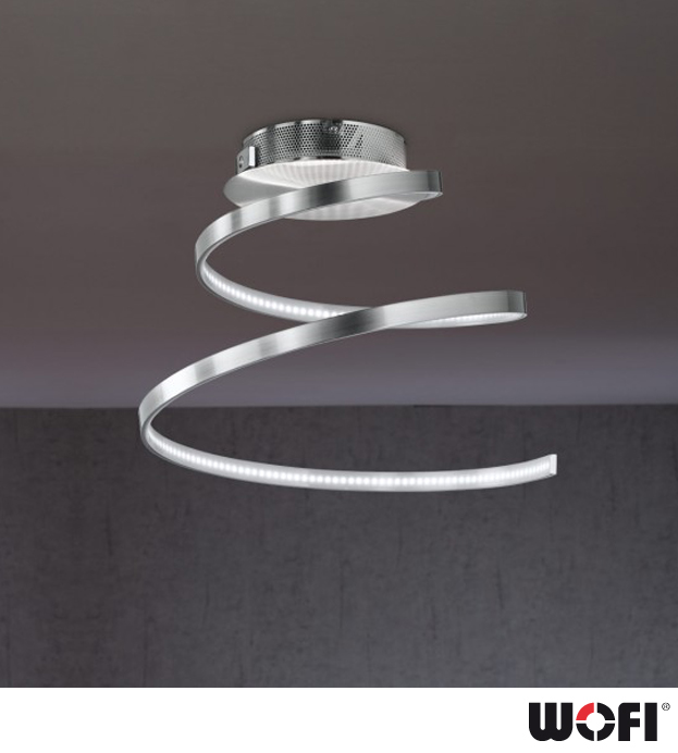 Wofi Laval 1 Light LED Ceiling Light Polished Chrome