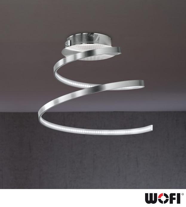 Wofi Laval 1 Light LED Ceiling Light Polished Chrome