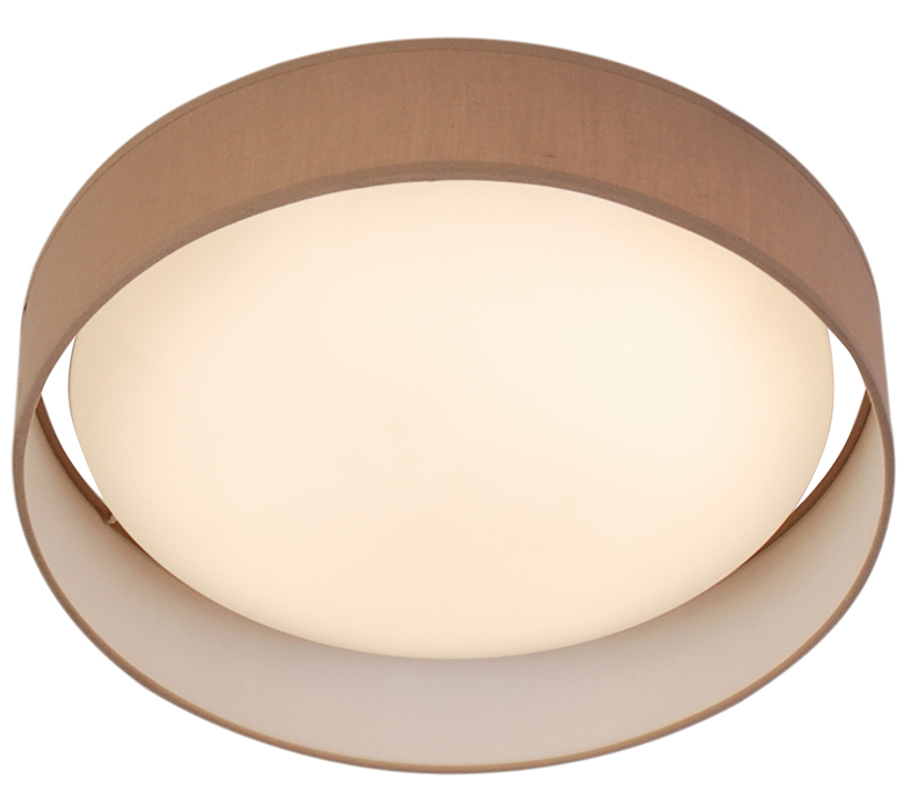 Fabric flush ceiling lights from easy lighting searchlight modern 1 light led flush ceiling light brown acrylic shade 9371 37br aloadofball Images
