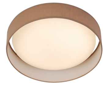 Searchlight Modern 1 Light LED Flush Ceiling Light, Brown Acrylic Shade - 9371-37BR