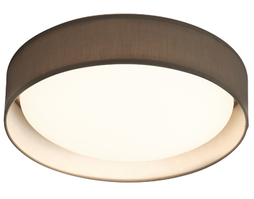 Searchlight Modern 1 Light LED Flush Ceiling Light, Grey Acrylic Shade - 9371-37GY