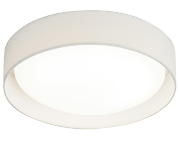 Searchlight Modern 1 Light LED Flush Ceiling Light, White Acrylic Shade - 9371-37WH