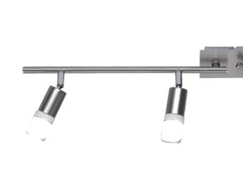Action Alvis 4 Light LED Ceiling Bar Spotlight, Matt Nickel & Chrome Finish - 938804640000