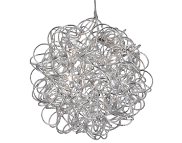 Searchlight Scribble 6 Light Ball Pendant Ceiling Light, Polished Chrome Finish - 9432