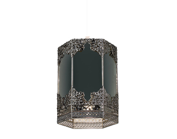 Endon Morro Non-Electric Pendant, Mirrored Glass & Pewter Finish - NE-96061