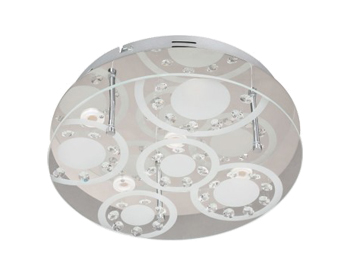 Wofi Lore LED 5 Light Ceiling Light, Chrome - 9624.05.01.0320