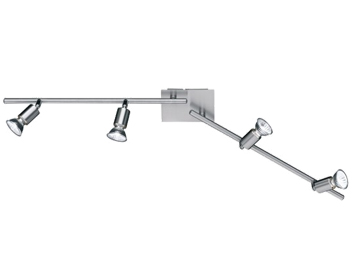 Wofi Nini 4 Light Bar Spotlight, Matt Nickel Finish - 9669.04.64.0000
