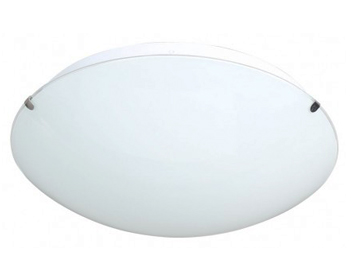 Action Lorenz 1 Light LED Ceiling Light, Matt Nickel & Glass - 975401640300