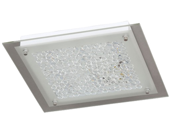 Action Merle 1 Light LED Square Ceiling Light, Chrome - 976701060300