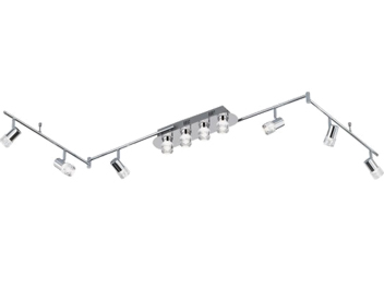 Wofi Antibes 10 Light LED Switched/Remote Control Ceiling Spotlight, Chrome Finish - 9792.10.01.0000