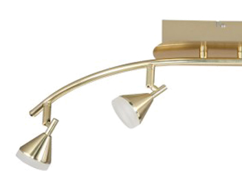 Wofi Cameron 4 Light LED Bar Spotlight, Matt Brass Finish - 9796.04.32.0000