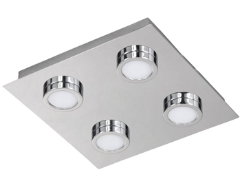 Action Veneta 4 Light LED Ceiling Light, Chrome - 987104010000