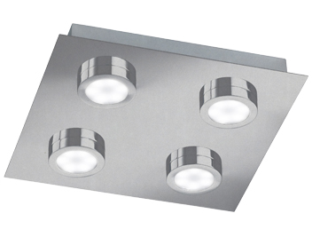 Action Veneta 4 Light LED Ceiling Light, Matt Nickel - 987104640000