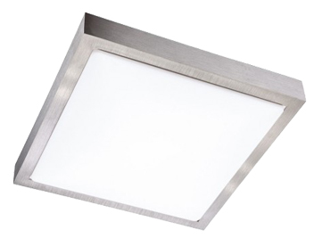 Action Sana 1 Light LED Square Ceiling Light, Silver - 988101701350