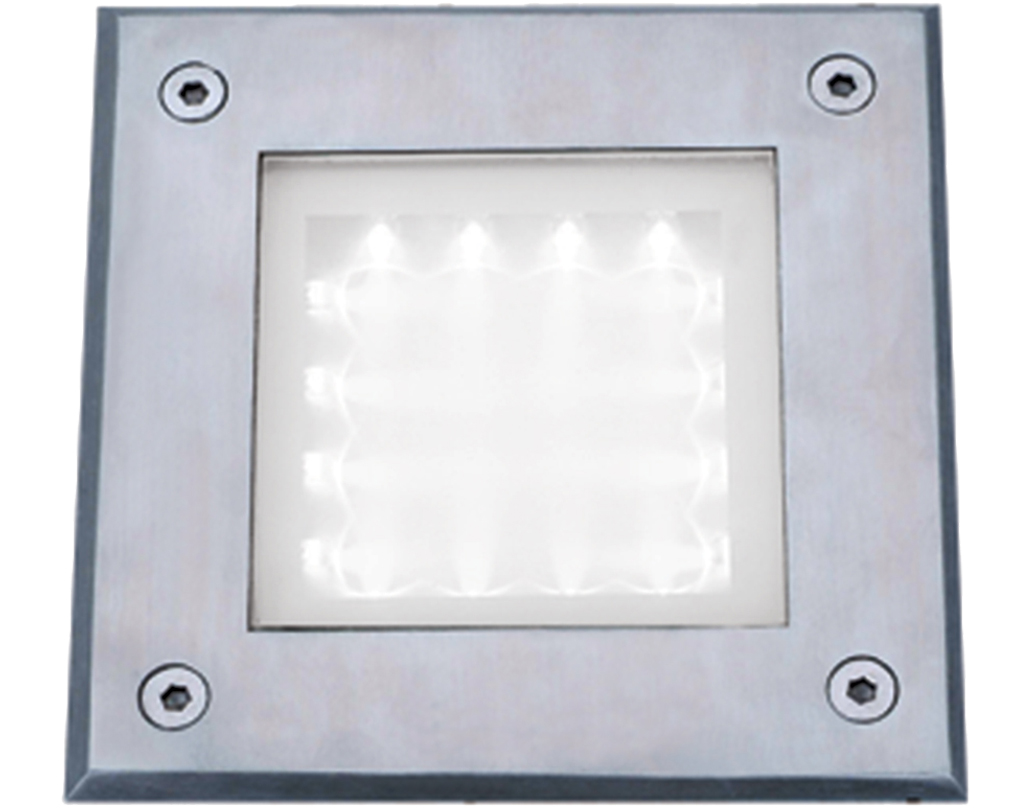 Searchlight LED Recessed Brick Light IP67, Stainless Steel, White LED    9909WH