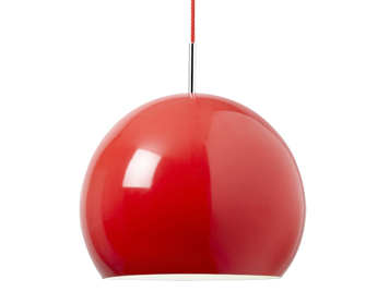 Endon Alzira Metal Ceiling Pendant, Red Finish - ALZIRA-RE