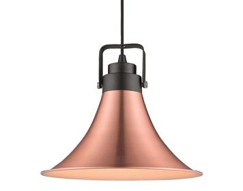 Copper pendant lights from easy lighting avalon 1 light ceiling pendant copper finish itl10007 aloadofball Images