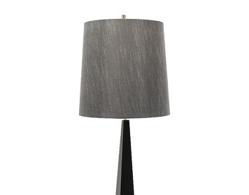 Elstead Ascent 1 Light Floor Lamp, Black Finish With Dark Grey Shade - ASCENT/FL BLK
