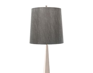 Elstead Ascent 1 Light Floor Lamp, Polished Nickel Finish With Dark Grey Shade - ASCENT/FL PN