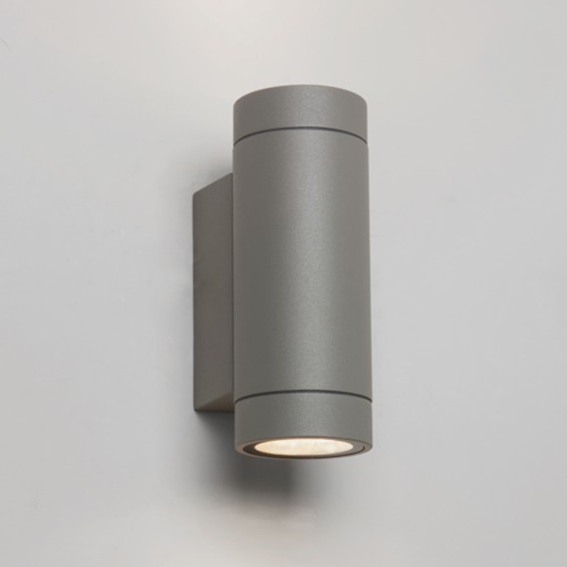Astro Dartmouth Twin LED Outdoor Wall Light, Painted Silver Finish - AST 7585