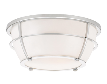 Elstead Quoizel Chance 2 Light Flush Ceiling Light, Polished Chrome Finish - QZ/CHANCE/F PC