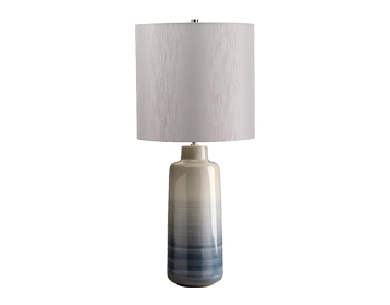 Elstead Bacari 1 Light Large Table Lamp, Blue & Grey Finish With Silver Shade - BACARI/TL LRG