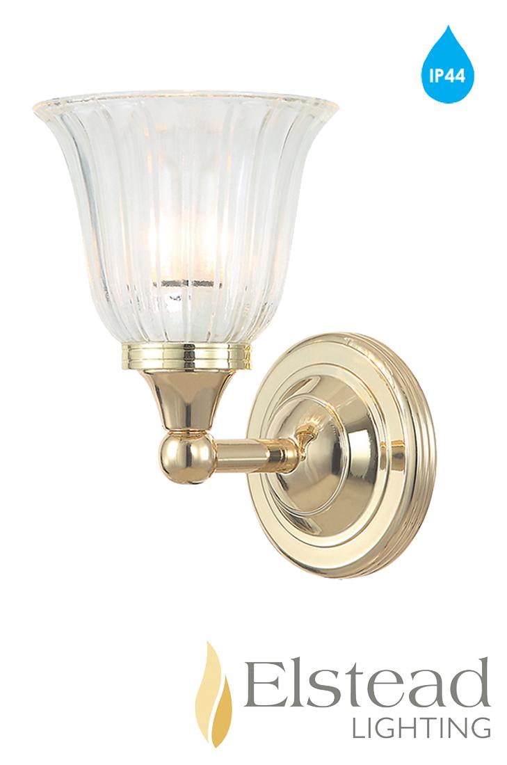 Elstead 39 Austen 39 Ip44 1 Light Polished Brass Bathroom Wall Light Bath Austen1pb From Easy Lighting