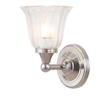 Elstead Austen 1 Light Bathroom Wall Light, Polished Nickel - BATH/AUSTEN1PN