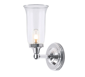 Elstead Austen 1 Light Bathroom Wall Light, Polished Chrome - BATH/AUSTEN2PC